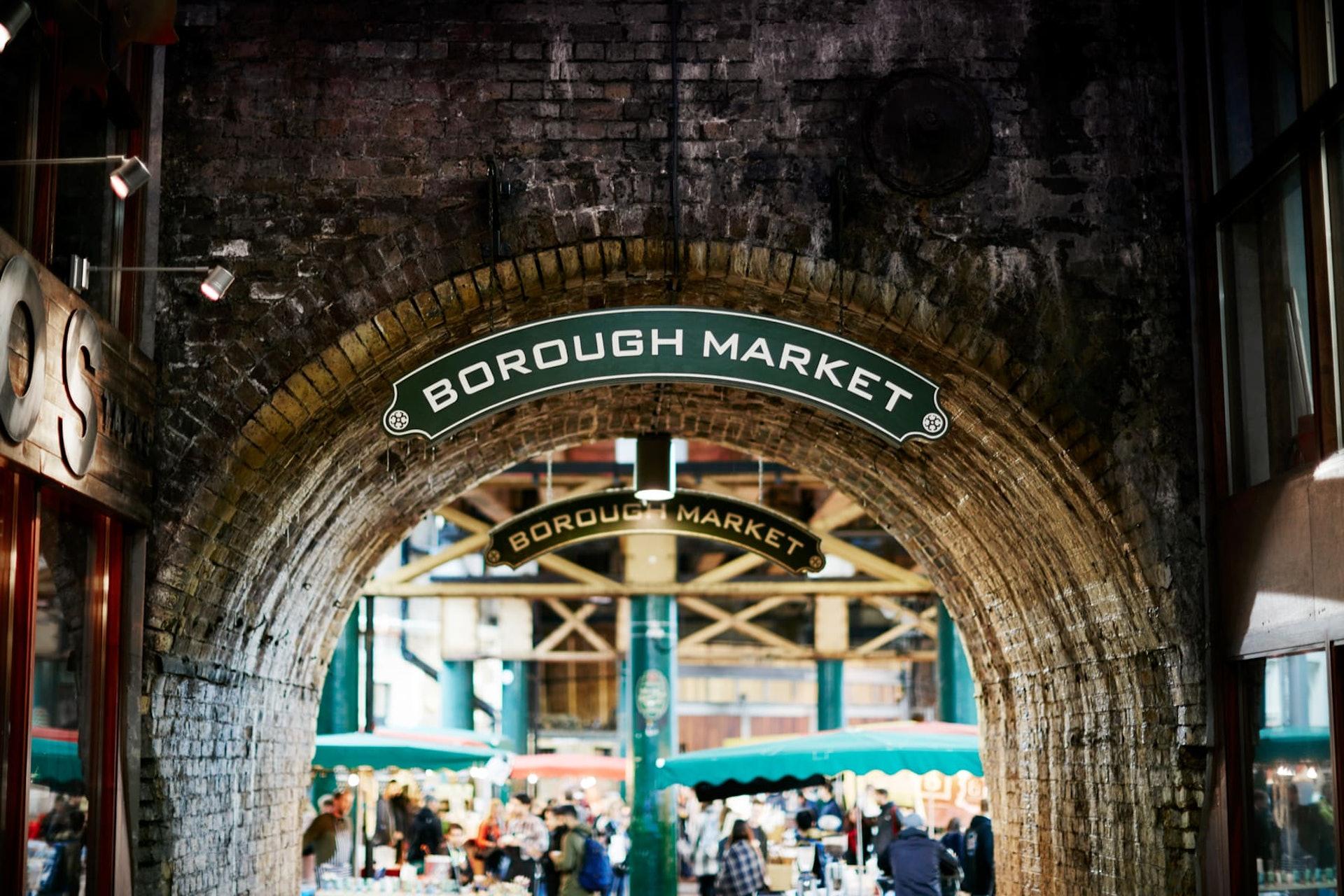 Exterior of Borough Market, London