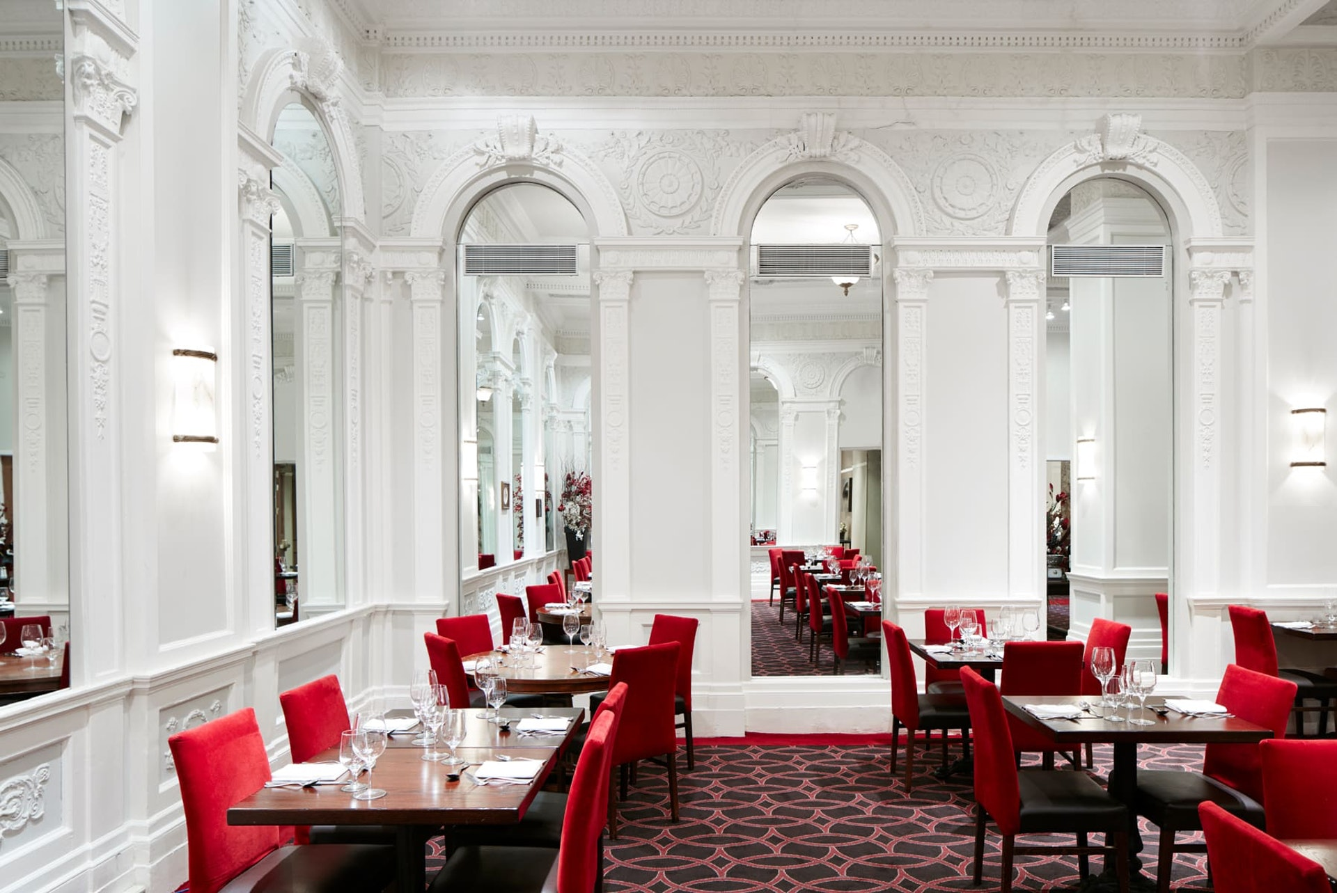 Interior of Patrick Restaurant, New York