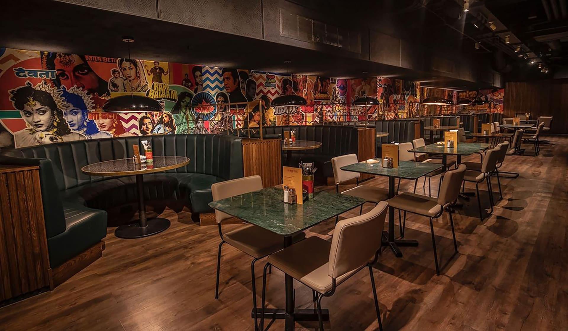 Interior of restaurant in London