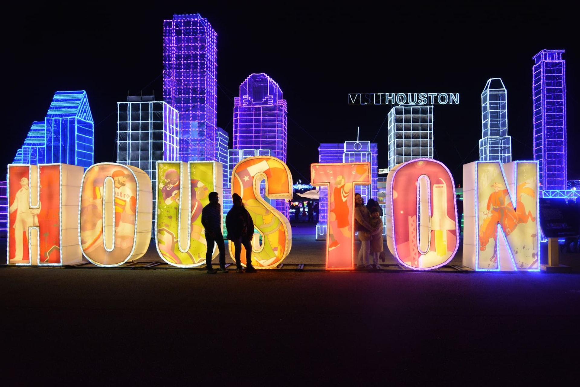 Light up Houston sculpture in Houston, Texas