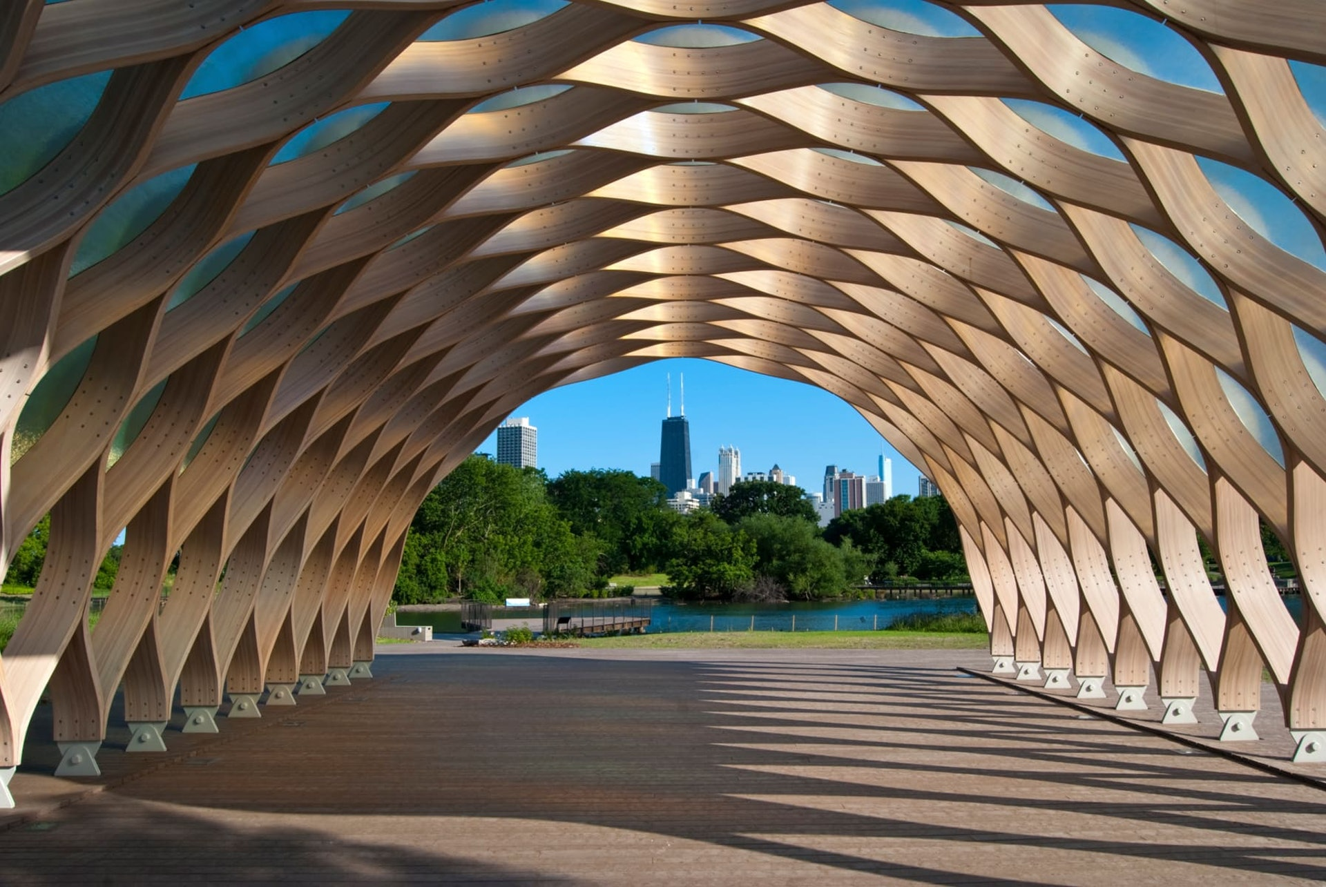 South Pond Pavilion sculpture, Chicago