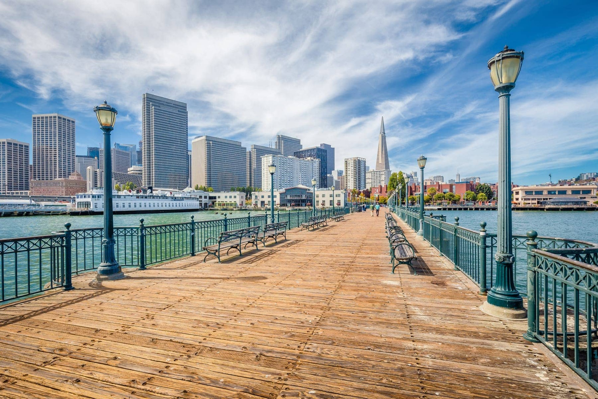 San Francisco Pier on a sunny day, California