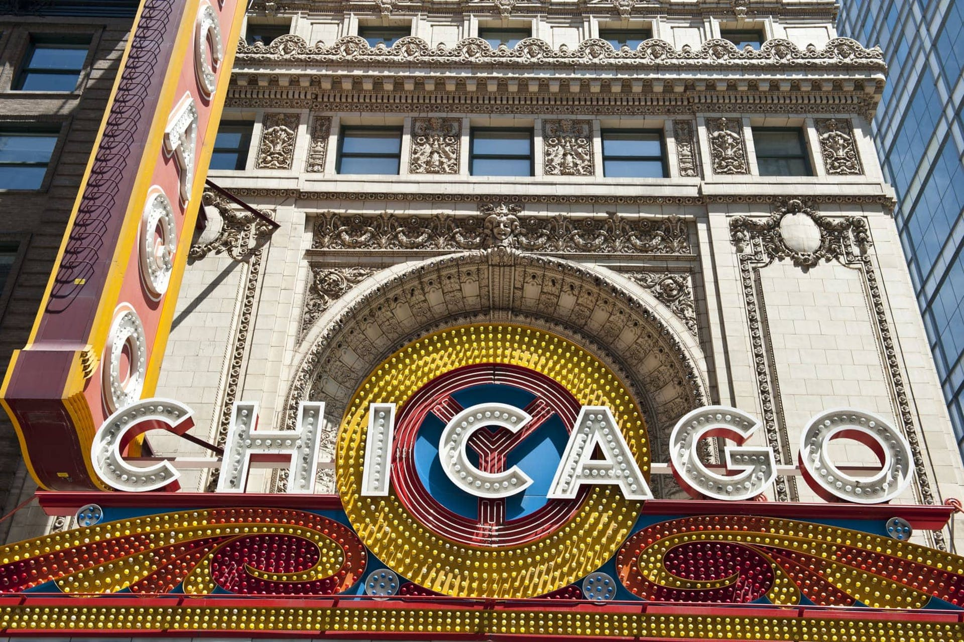 Exterior of Chicago Theatre