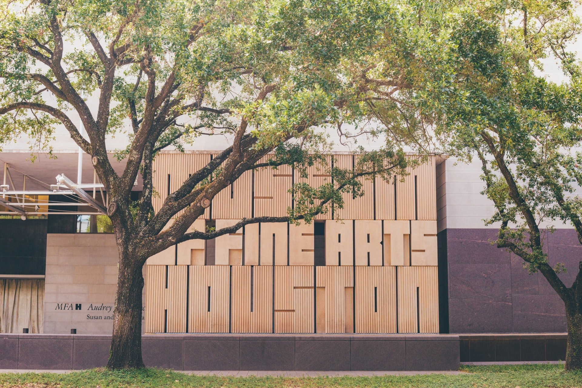 Sculpture outside The Museum of Fine Arts, Houston